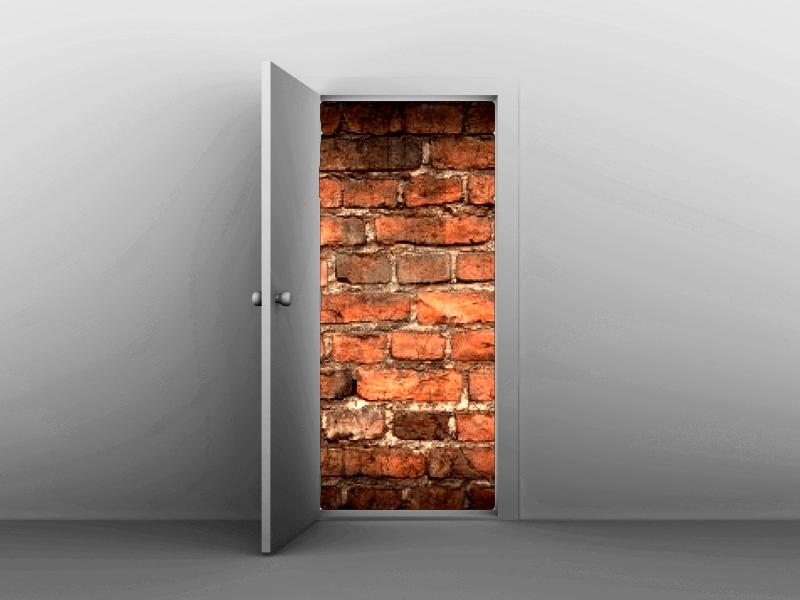 brick doors